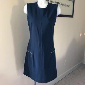 Sharagon Navy Blue & Gold Dress - Sz 8